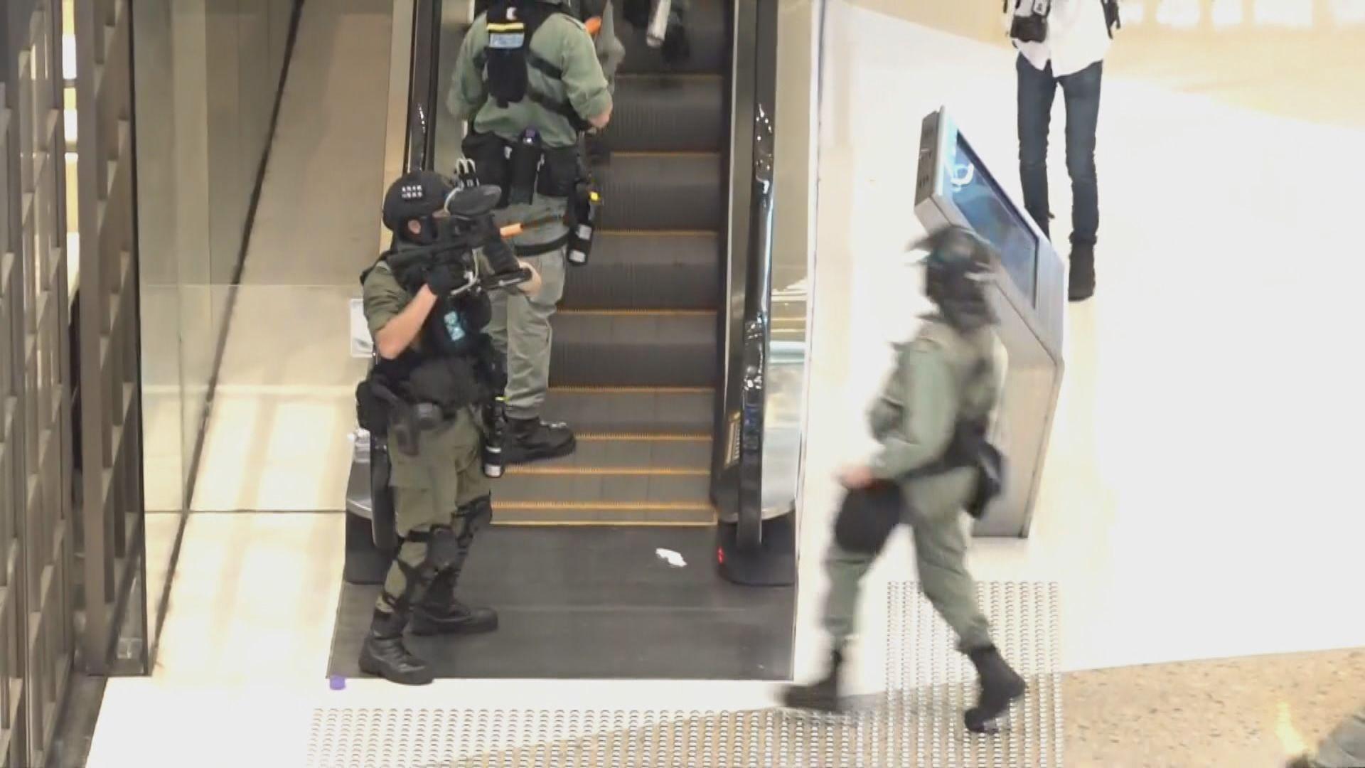 新世紀廣場疑有人高空擲物 警員商場內開胡椒球彈槍