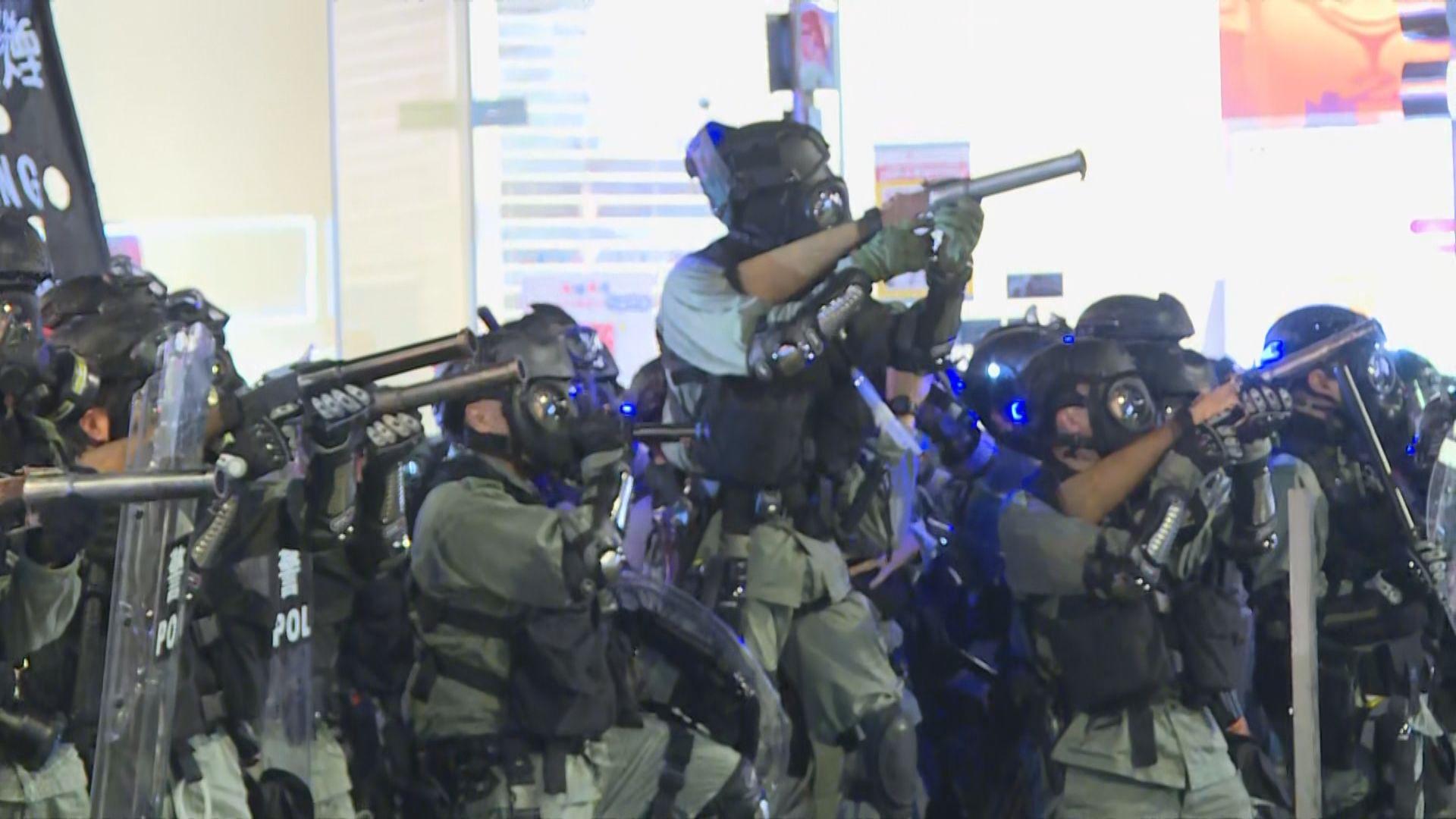 防暴警察銅鑼灣施放催淚彈驅散