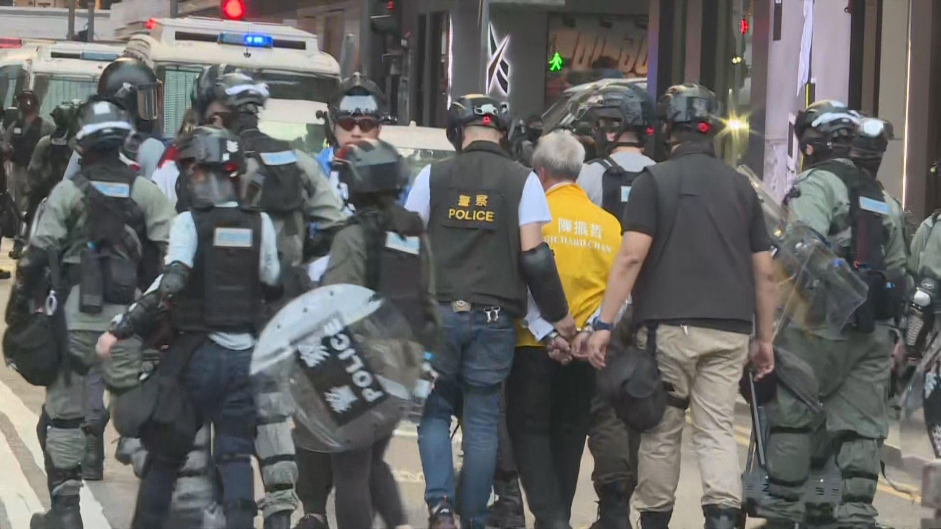 維園集會最少三名候選人被警員帶走