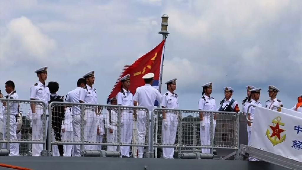 解放軍三艘軍艦訪問菲律賓