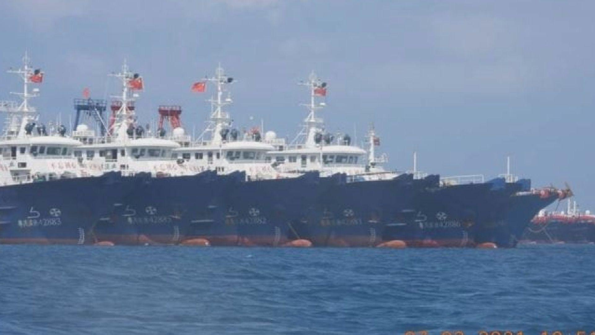 二百多艘中國漁船駛近南海島礁 菲律賓外長稱已向中方提出抗議