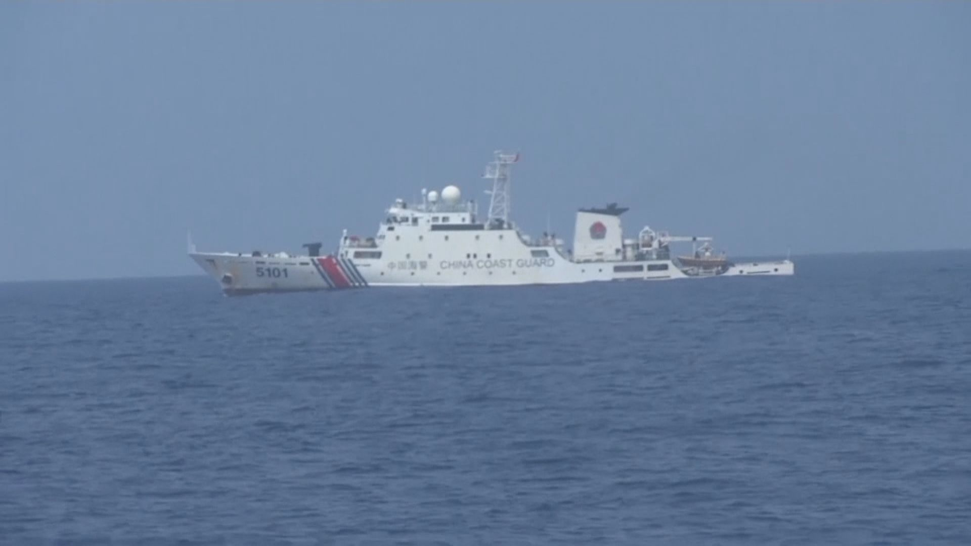 菲律賓抗議中方挑釁菲國巡邏船