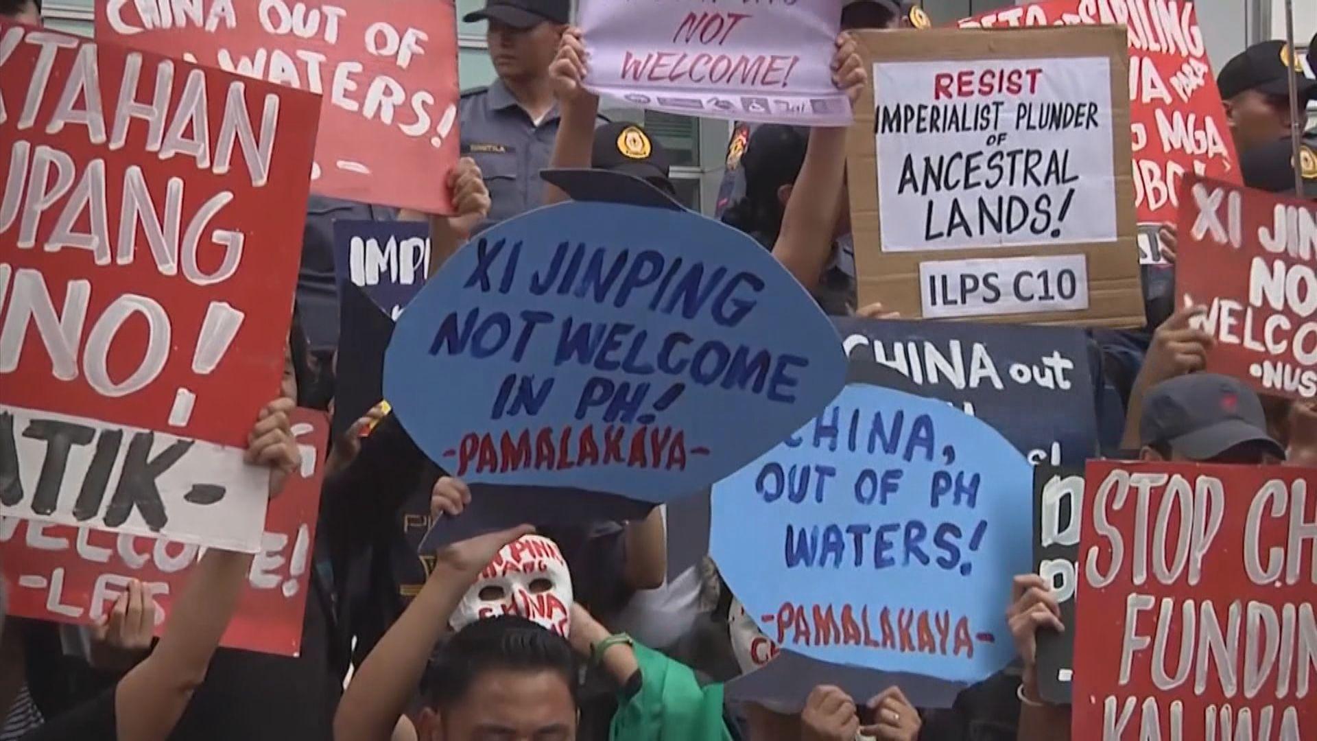 有菲律賓民眾抗議習近平到訪