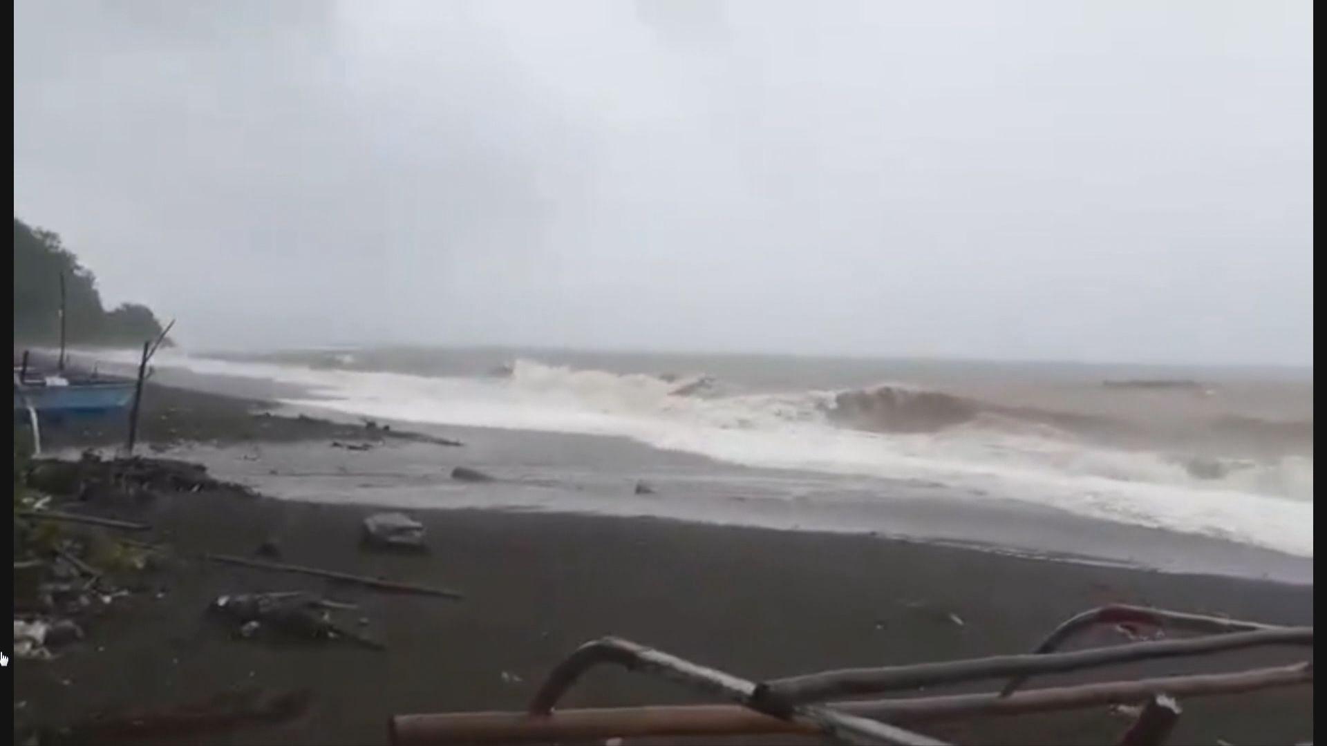 山竹逼近呂宋 菲律賓天氣轉壞