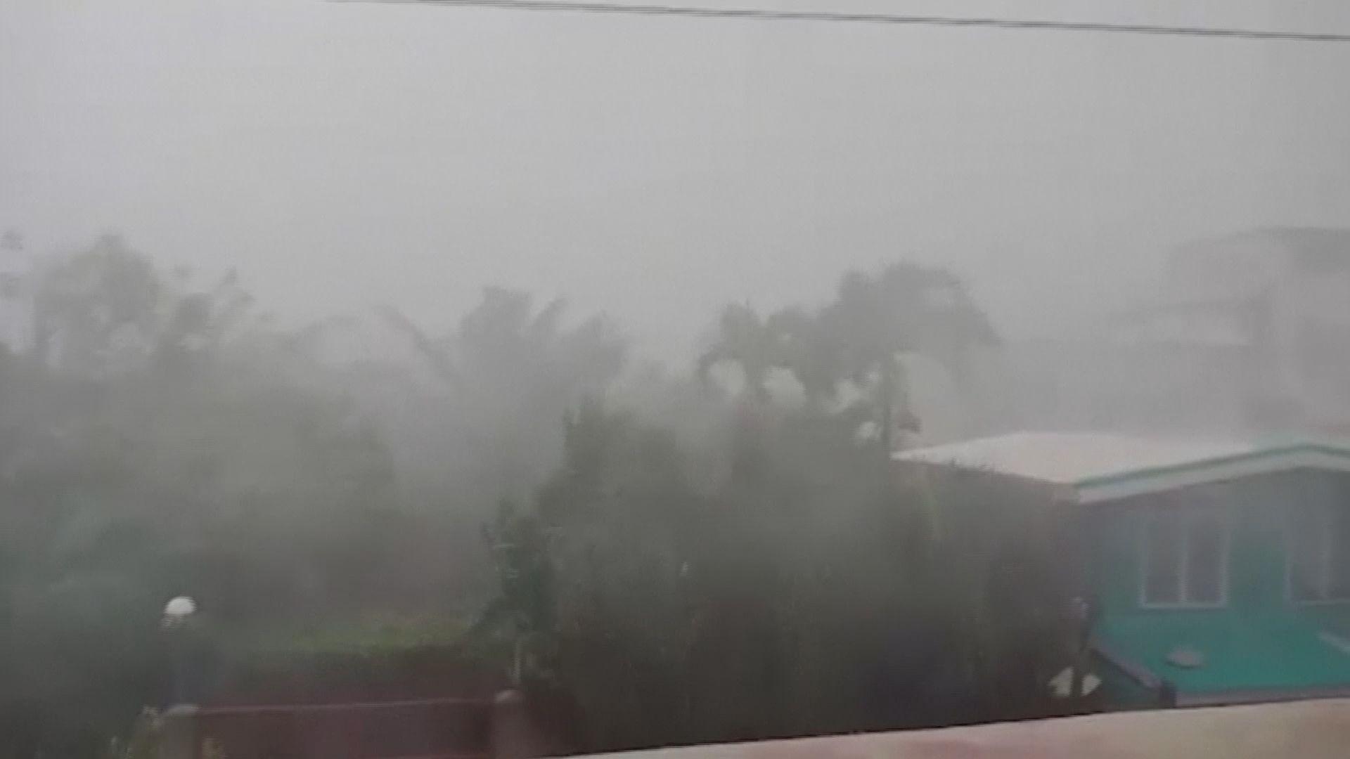 山竹吹襲菲律賓 廣泛地區暴雨