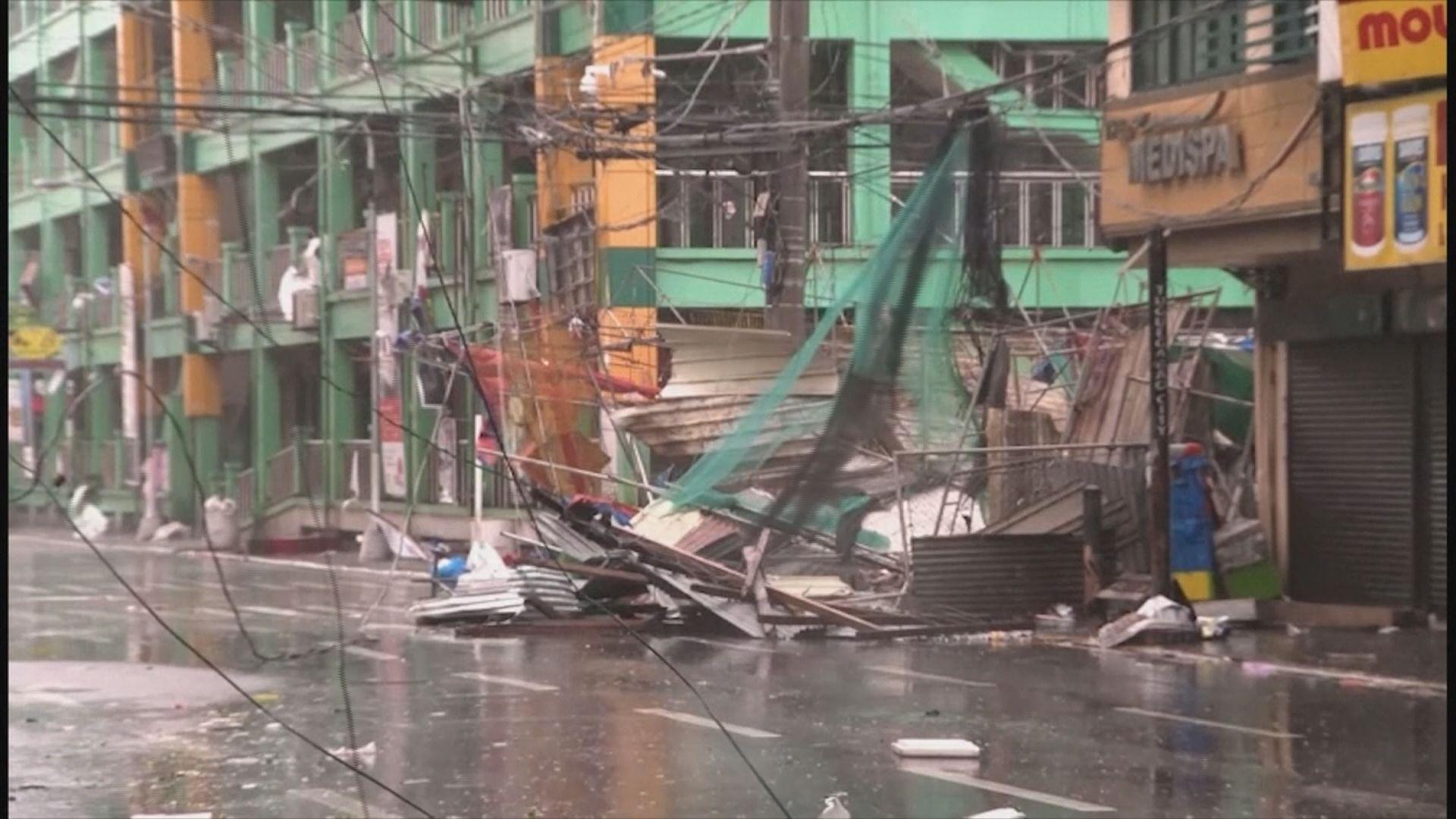 山竹吹襲菲律賓造成最少三人死亡 四人受傷