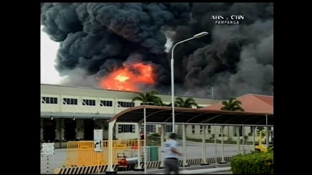 菲律賓輪胎工廠大火一人受傷