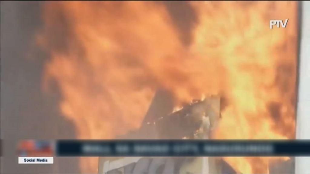菲律賓達沃市商場大火 當局找到一具屍體
