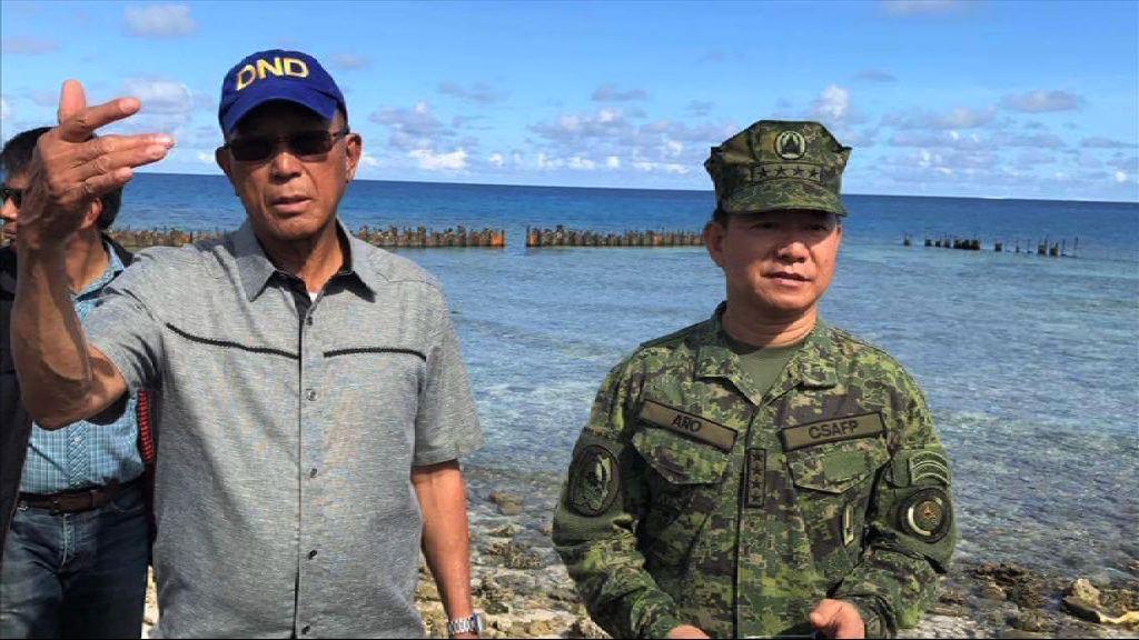 菲律賓防長登南海中業島視察