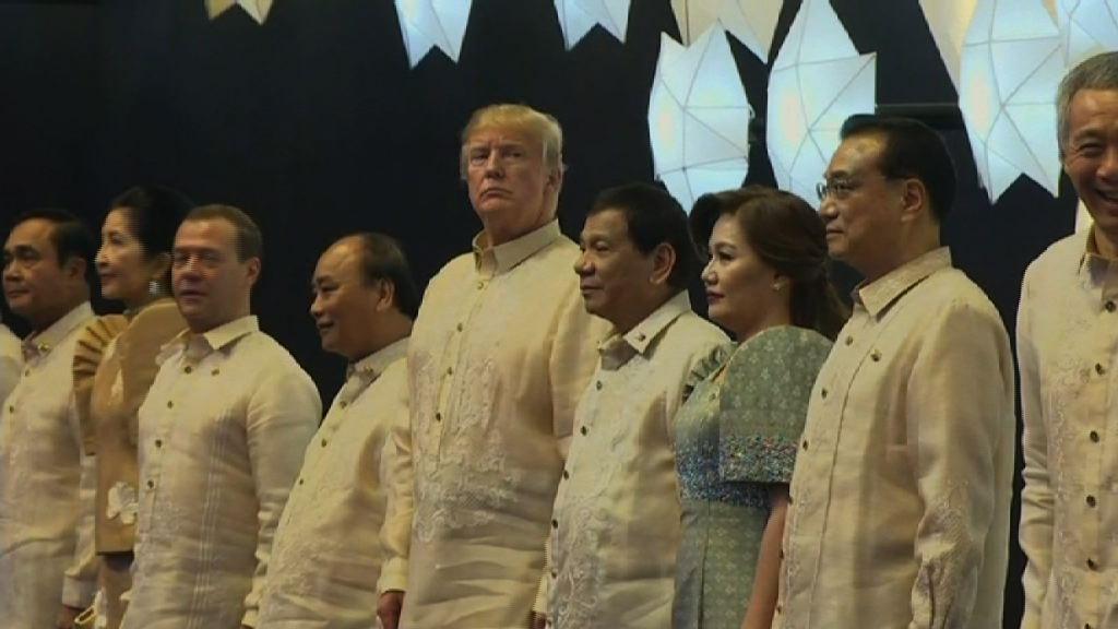 特朗普抵達亞洲訪問尾站菲律賓