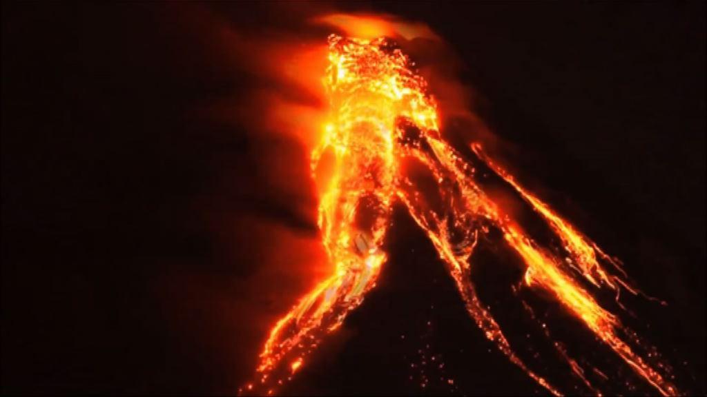 菲律賓馬榮火山爆發逾萬人疏散
