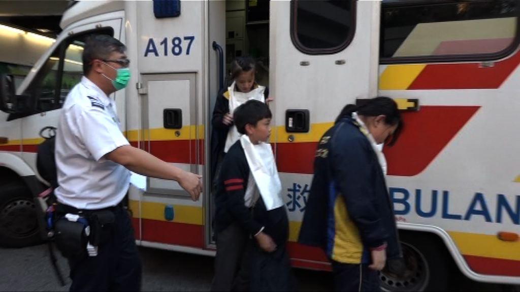 何壽南小學十名學童疑食物中毒送院