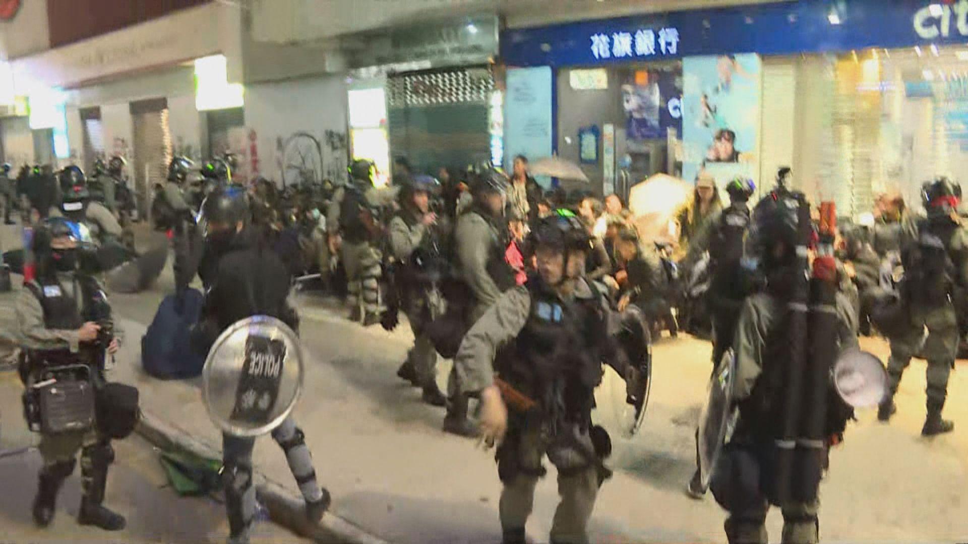 警方︰元旦銅鑼灣截查人士 三分一人獲釋其餘被捕