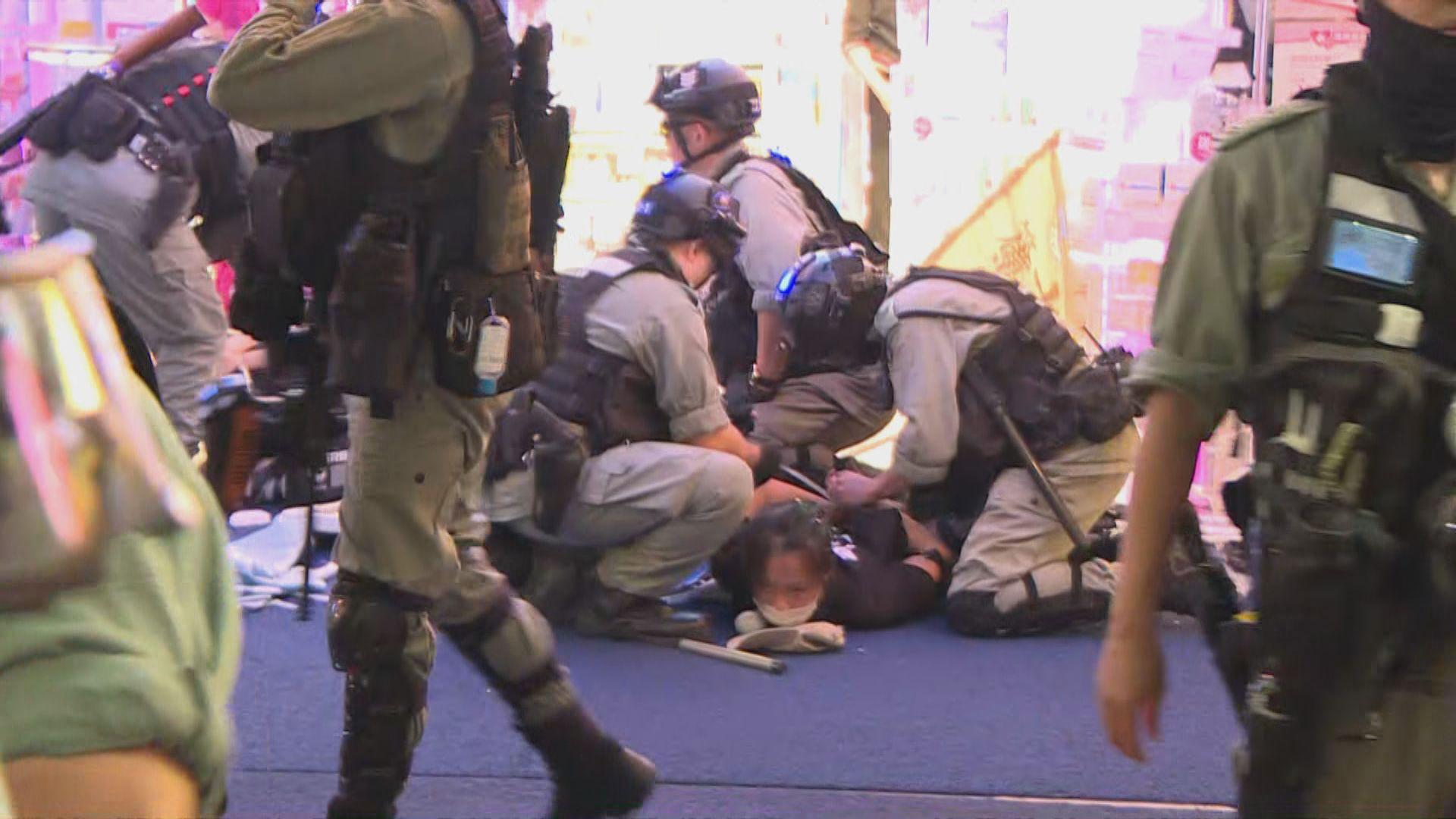 警方612一周年當晚各區共拘捕43人