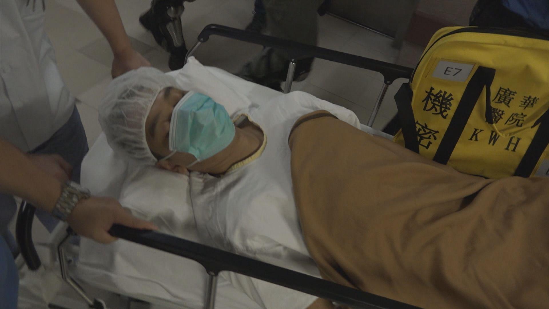 中箭警員需接受手術 警方嚴厲譴責暴徒