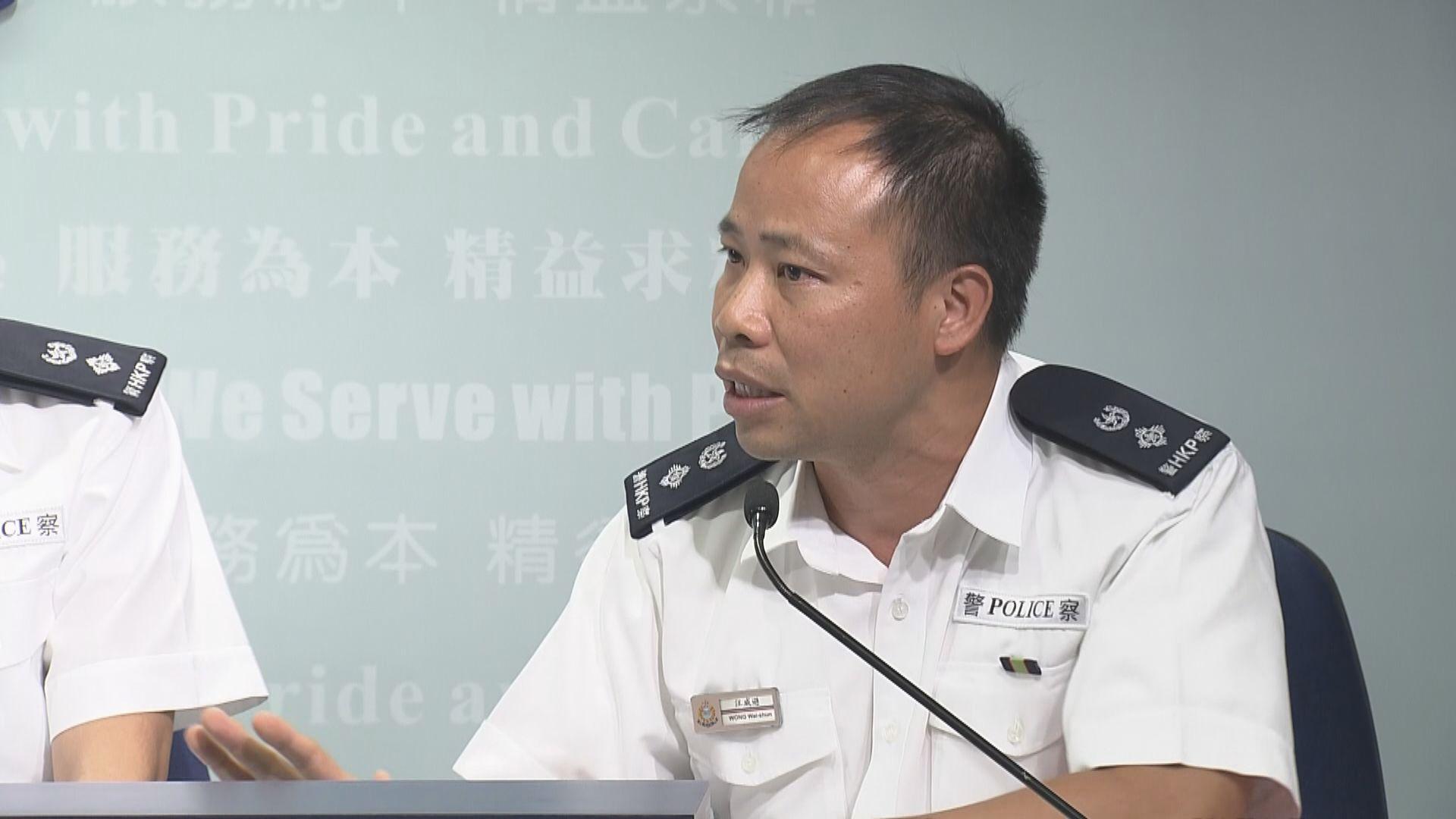 警方:大埔墟站制服一名中學生為確保安全