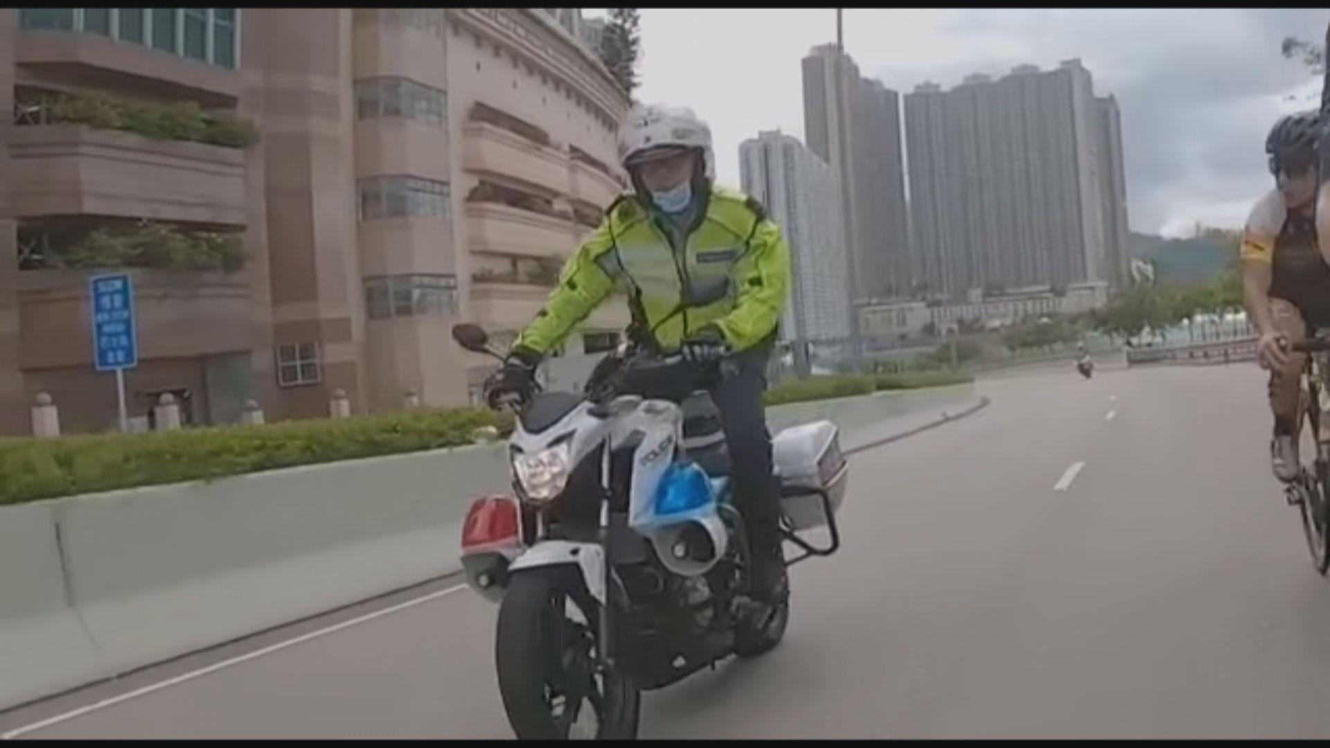模仿「踩單車」交通警被暫停駕駛職務調至內勤工作