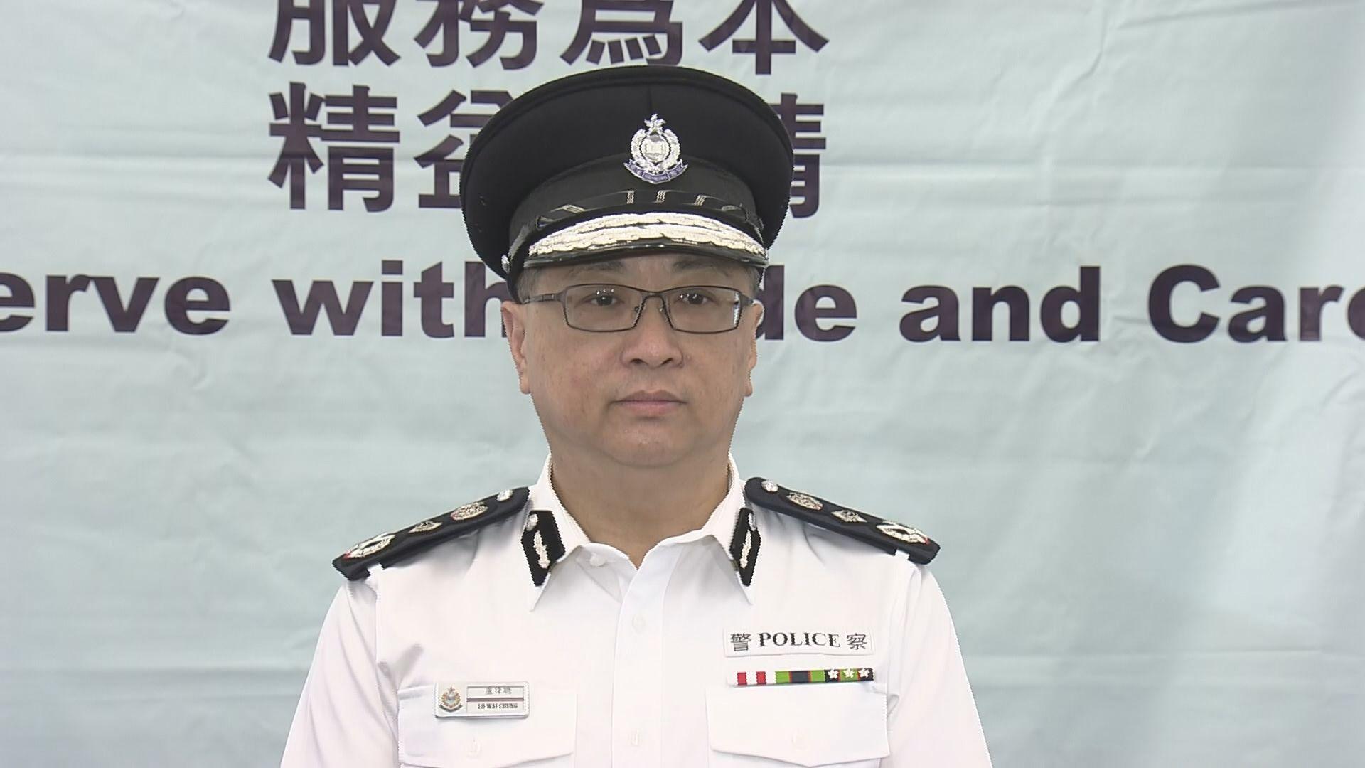 盧偉聰:警隊會繼續支援朱經緯
