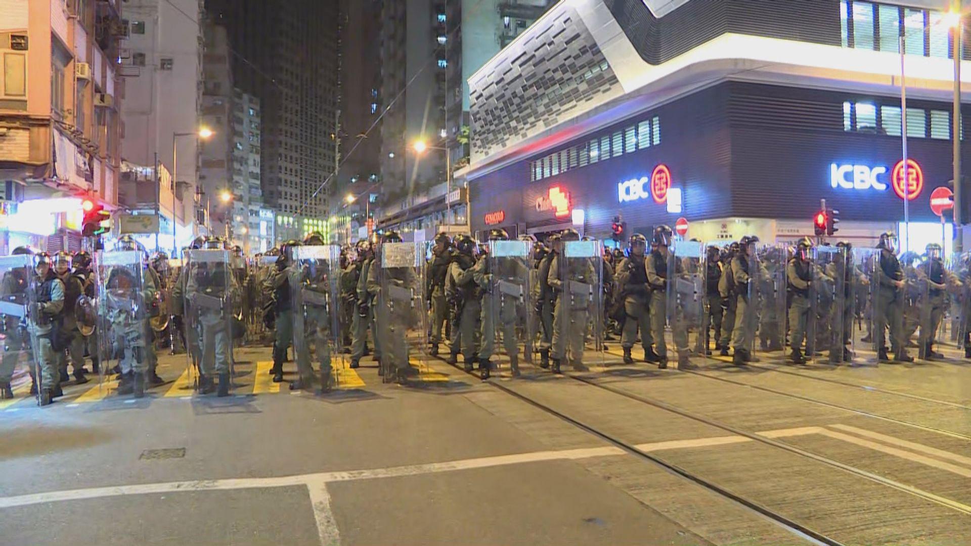 【民陣遊行】警方即將在西環向東面清場