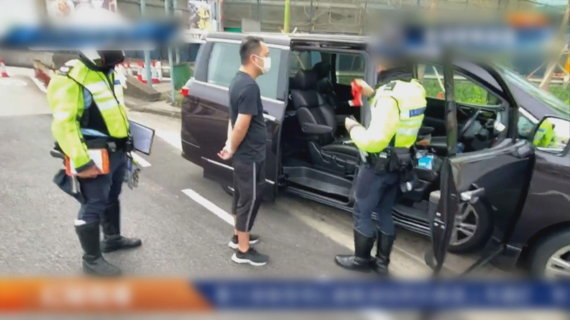 警指紅隧口拘七人涉危駕或藏工具作非法用途