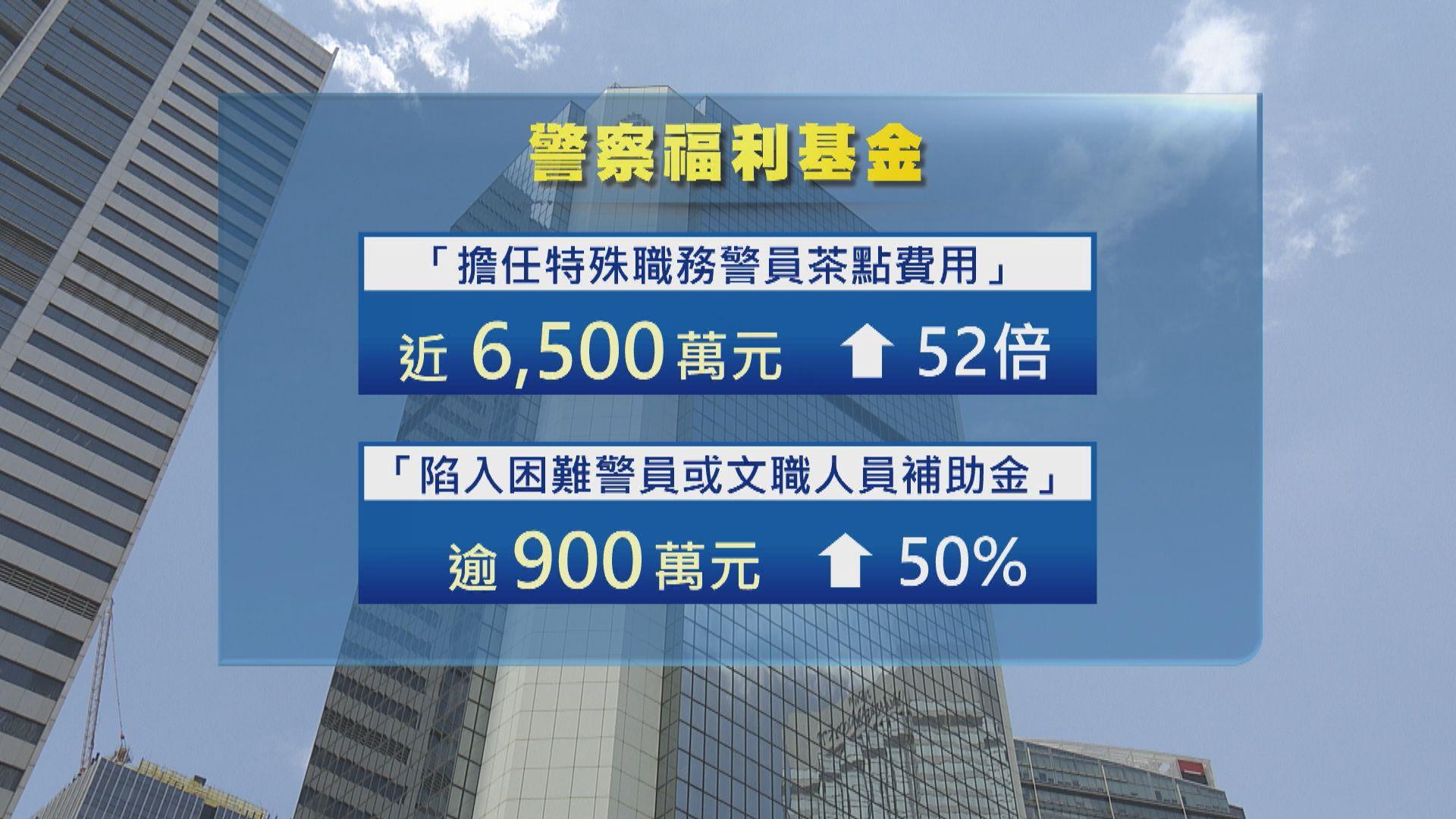 特殊職務警員茶點費近六千萬元 開支增52倍