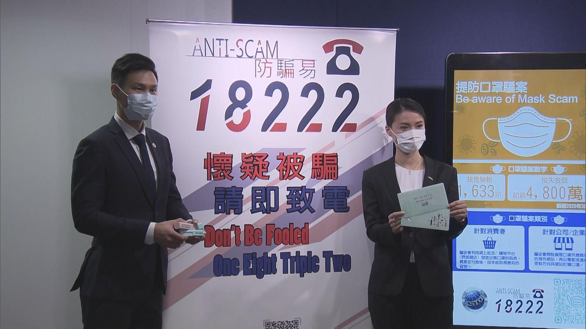 警方首季接獲逾1600宗網購口罩騙案 39人被捕