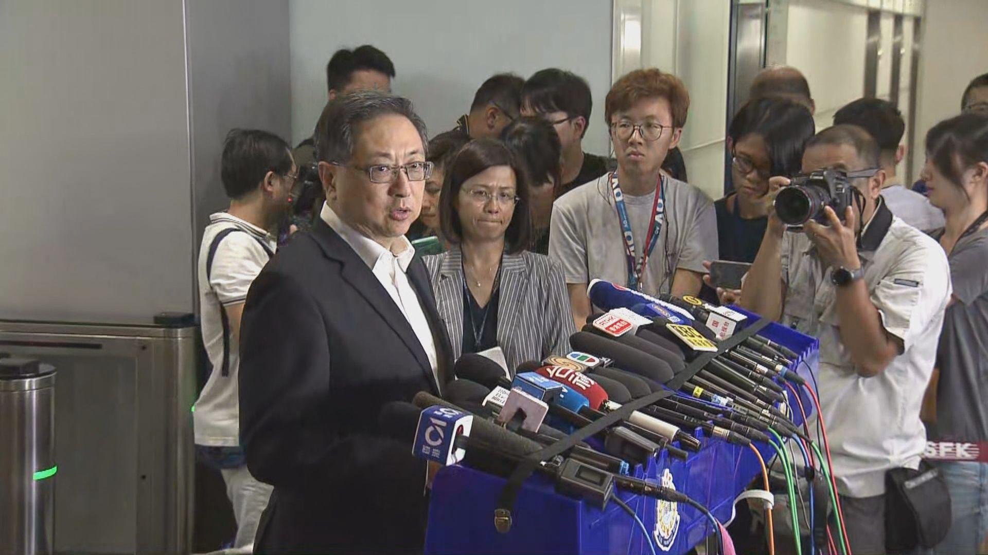 盧偉聰:如無參與暴力行為不干犯暴動罪