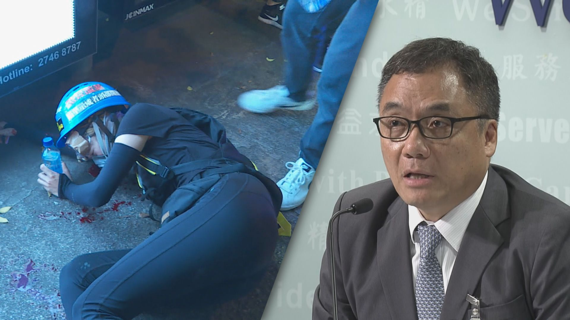 警方:眼球破裂受傷少女錄口供前不會拘捕她
