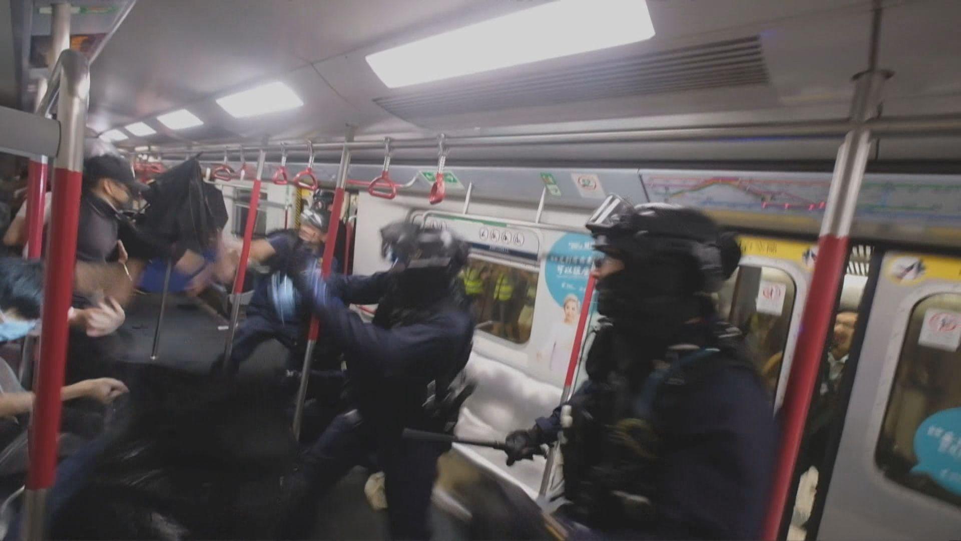 被問警員衝入車廂是否曾毆打市民 警方:使用最低武力