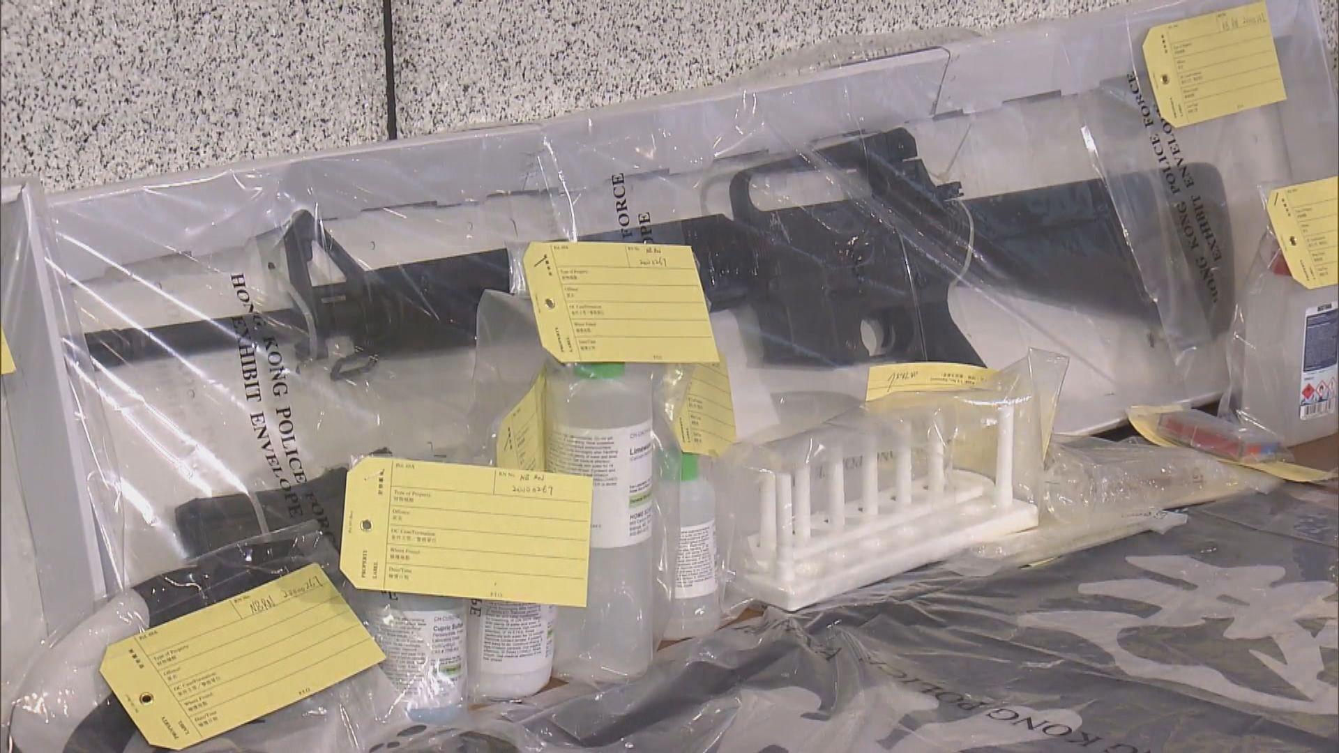 警拘二人 檢獲仿製槍械及爆炸品原材料