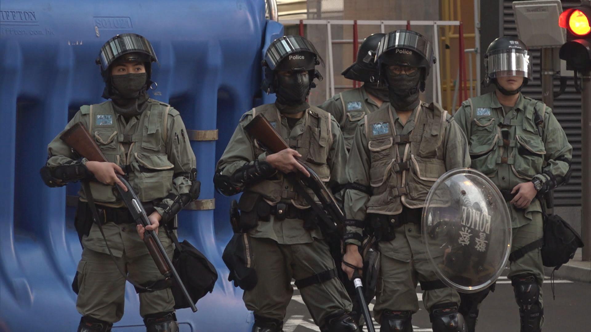 警方總區應變大隊部分人員周日返回所屬警區