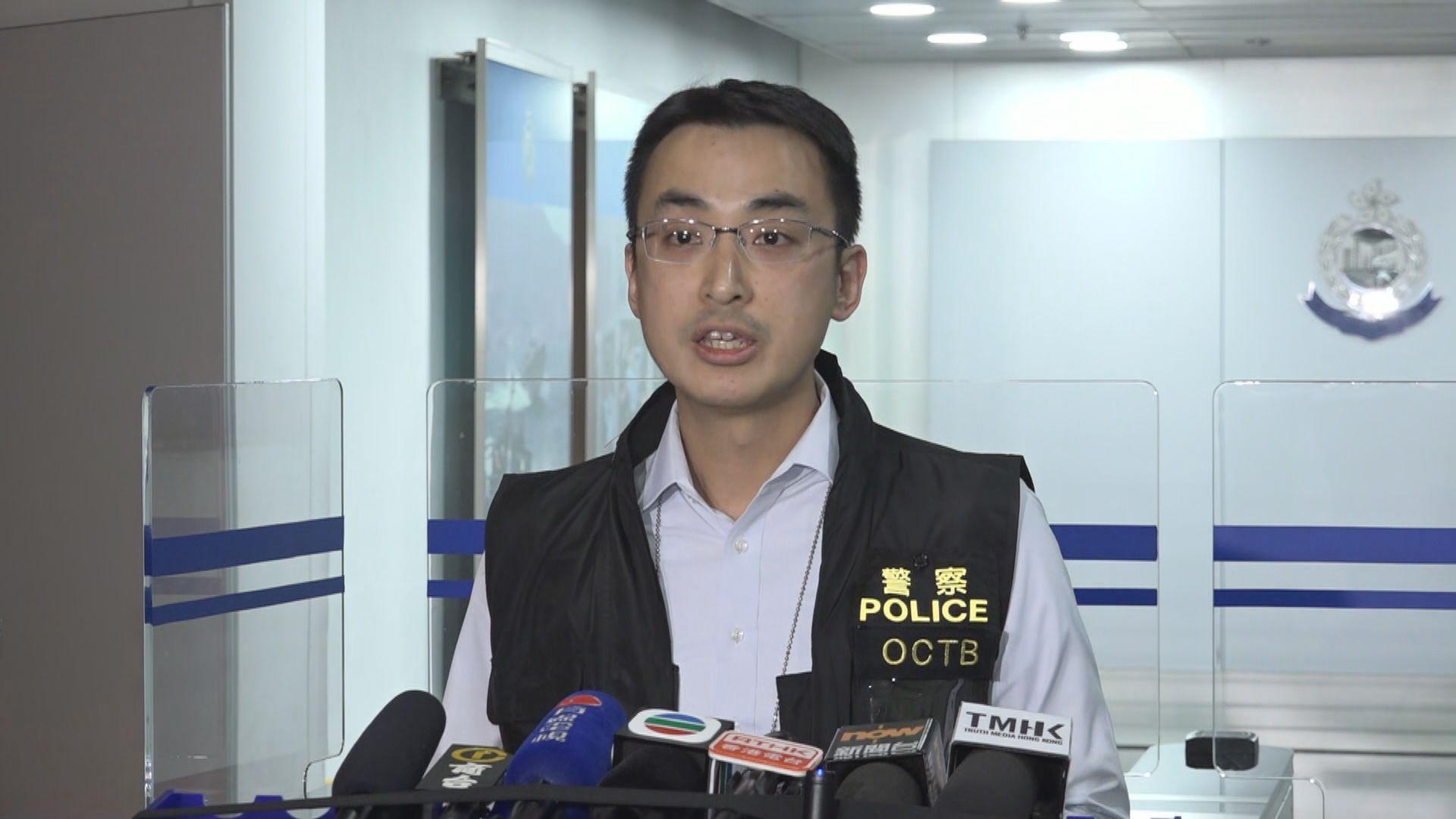 休班警拘一男子藏十支18厘米長雷射槍