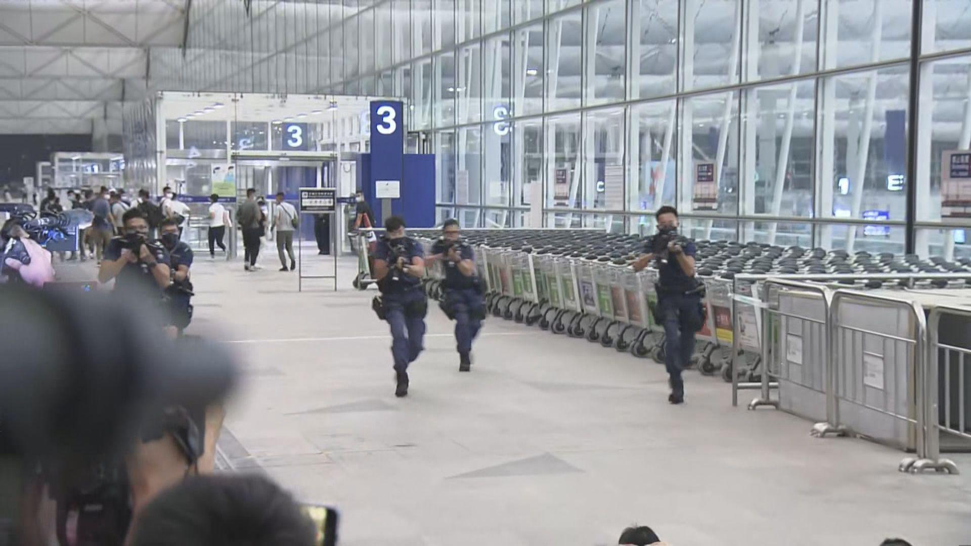 警方機場反恐演習 指防範本土恐怖主義死灰復燃