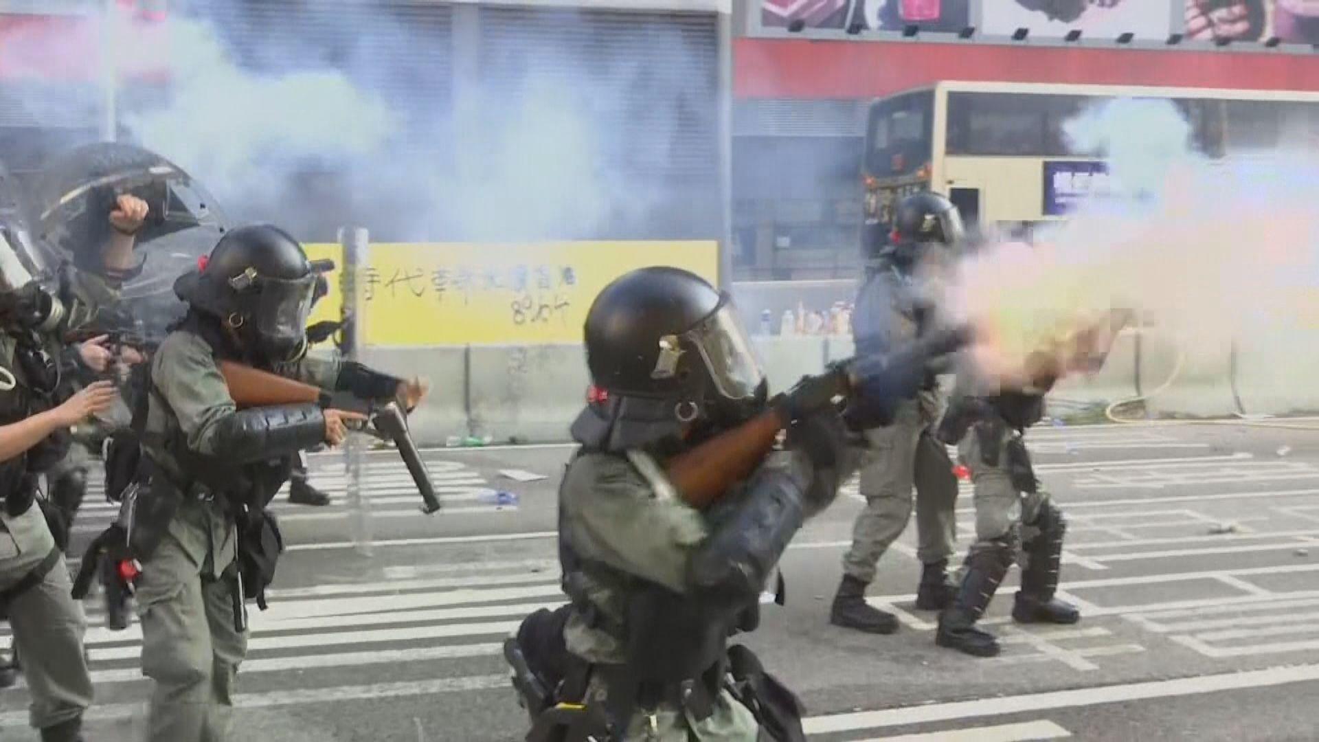 反修例示威 警發約一萬枚催淚彈