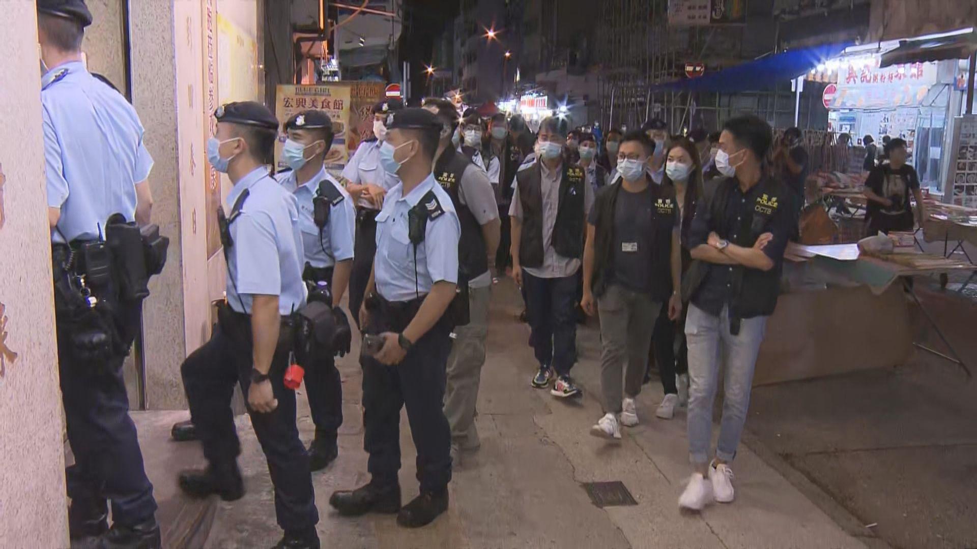 警犁庭掃穴反罪惡拘43男女