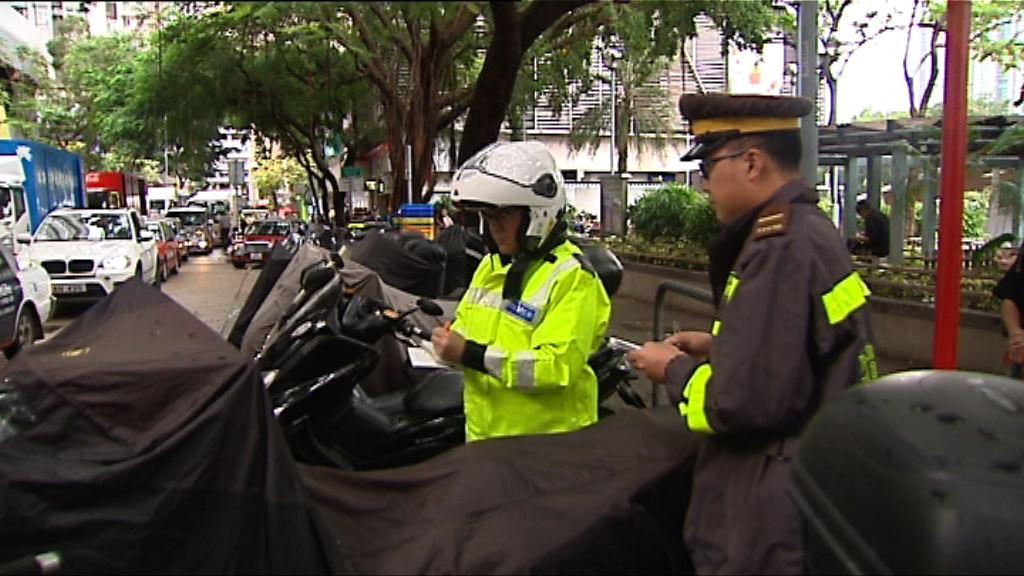 警方一連六日加強打擊違例泊車