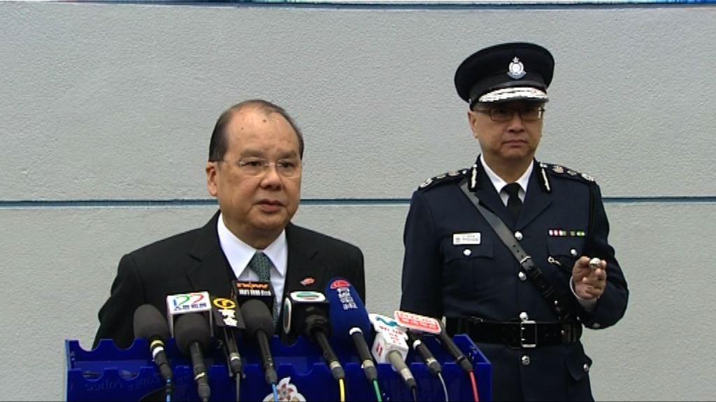 張建宗讚揚警員被示威者刁難仍專業