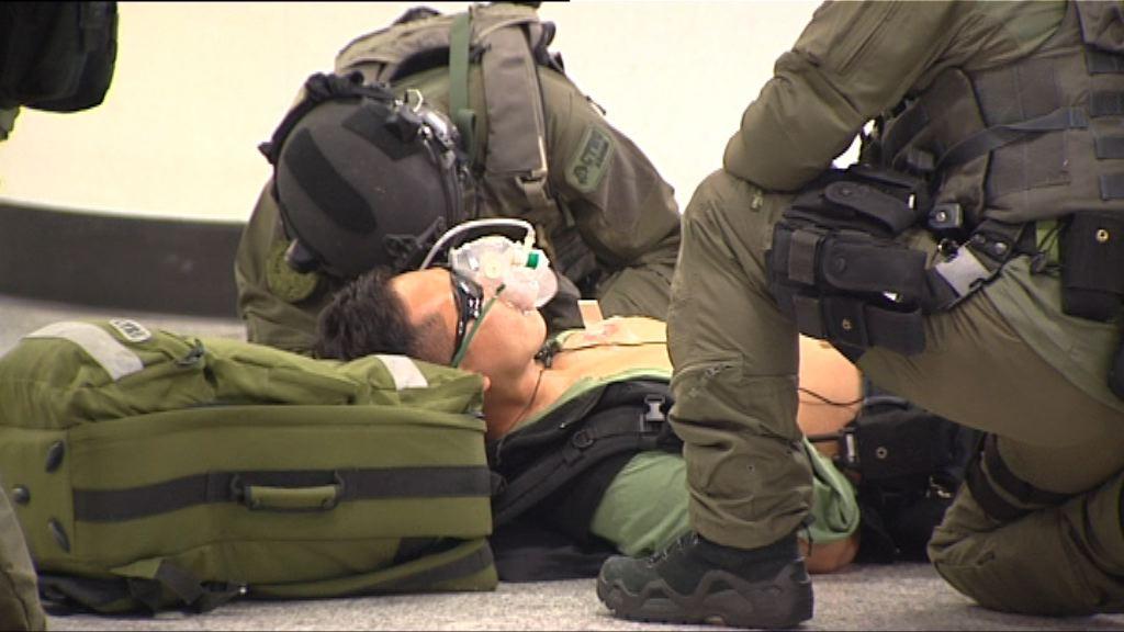 港鐵金鐘站四百人參與反恐演習