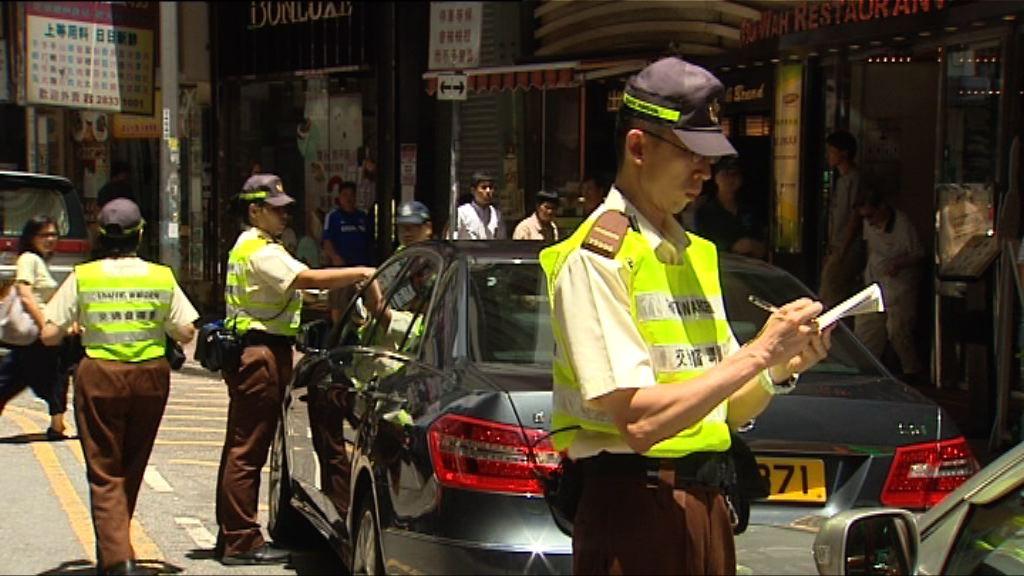 警方周一起展開全港反違泊行動