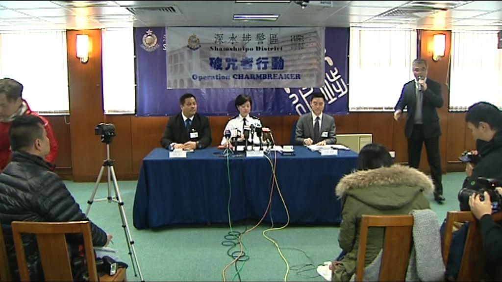 警方深水埗反罪案行動拘61人