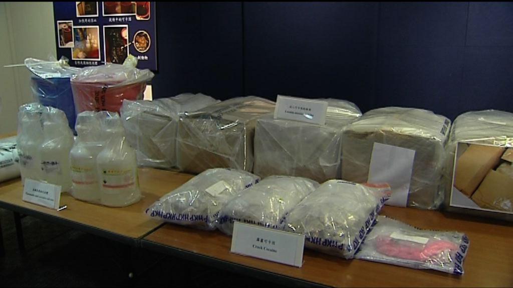 警方檢獲十年來最多霹靂可卡因 市值五千萬