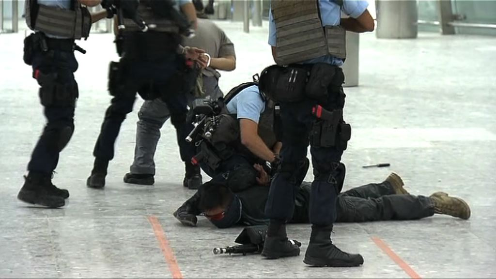 警方於高鐵西九站進行反恐演習
