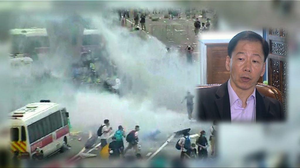 黃志雄:佔領首次放催淚彈前可更清晰警告