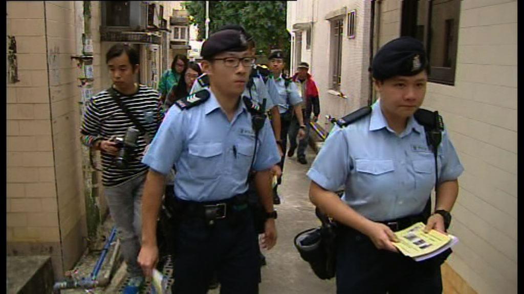 警方西貢村屋進行反爆竊巡邏