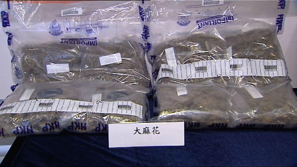 警方指嚴重大麻案件上升四成四