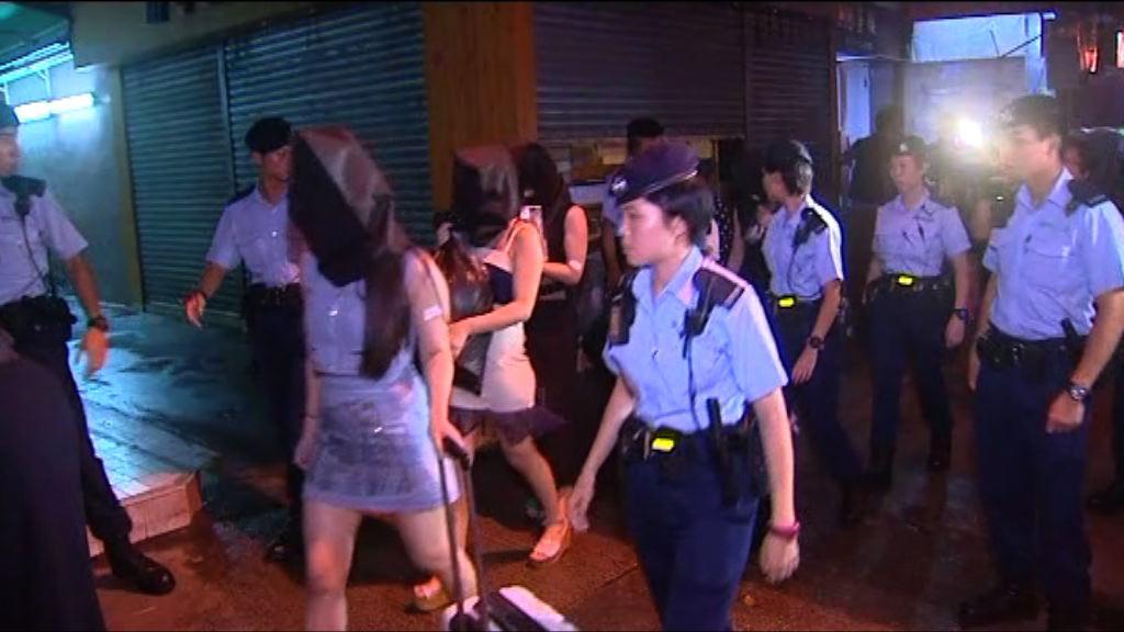 警方連續第三天在新界展開反黑行動