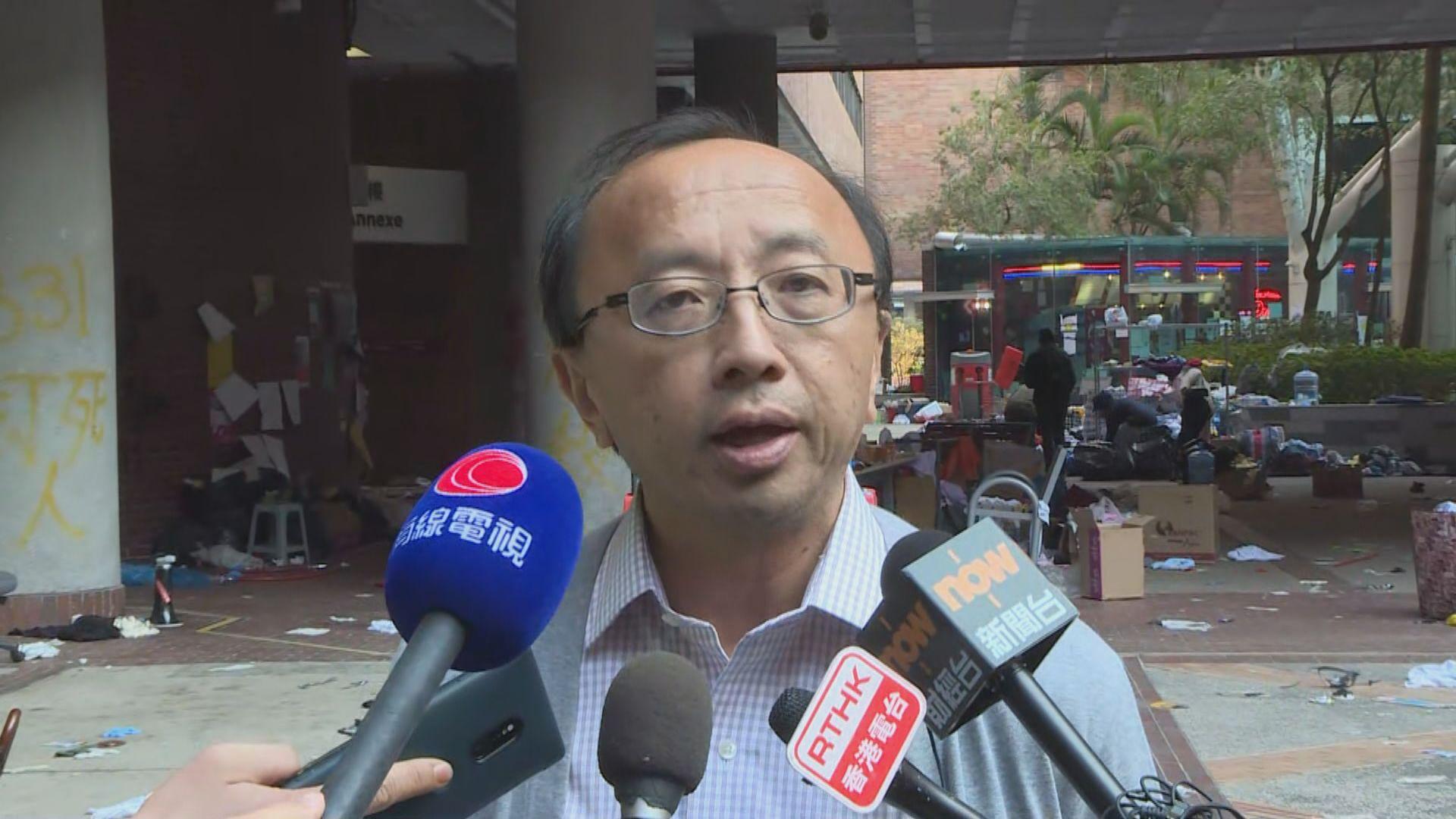 張達明:純粹離開校園不足證曾出現暴動現場