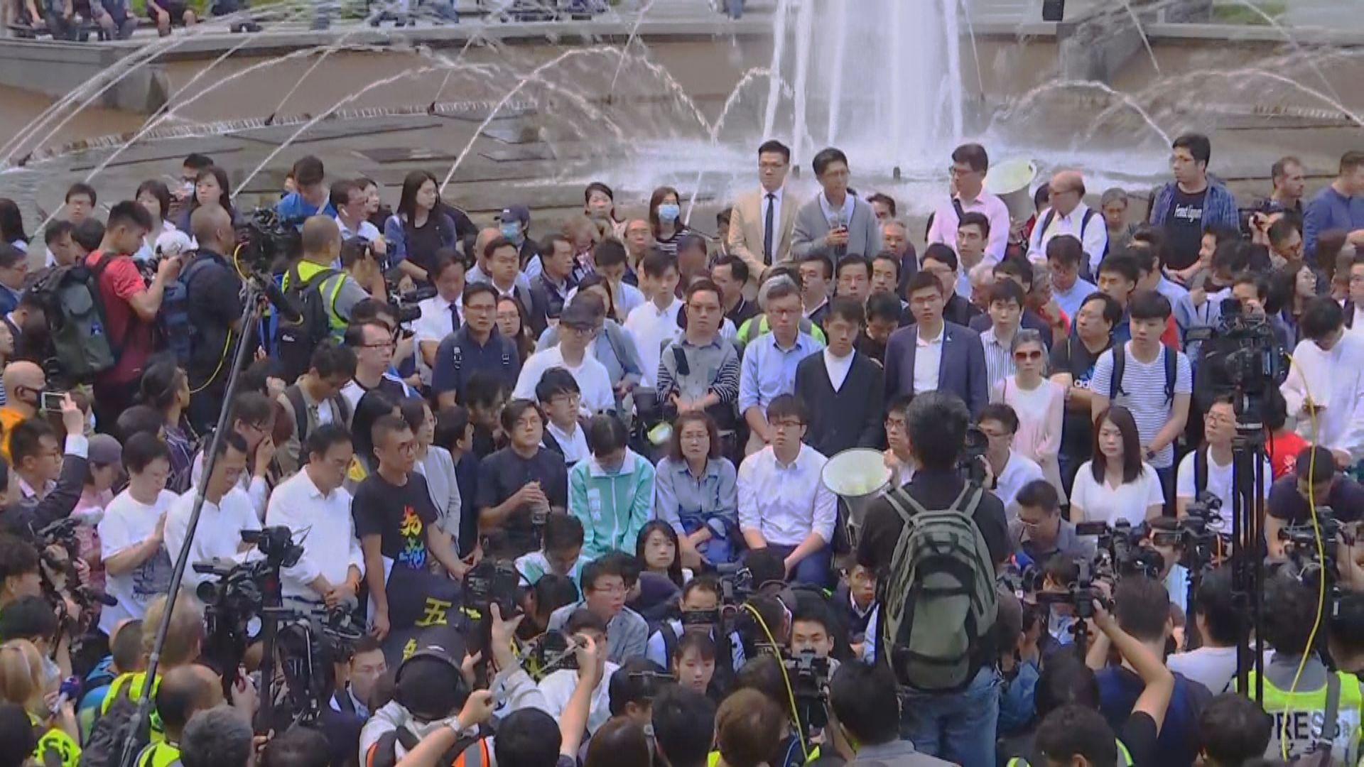 民主派區選當選人尖東集會聲援理大留守者