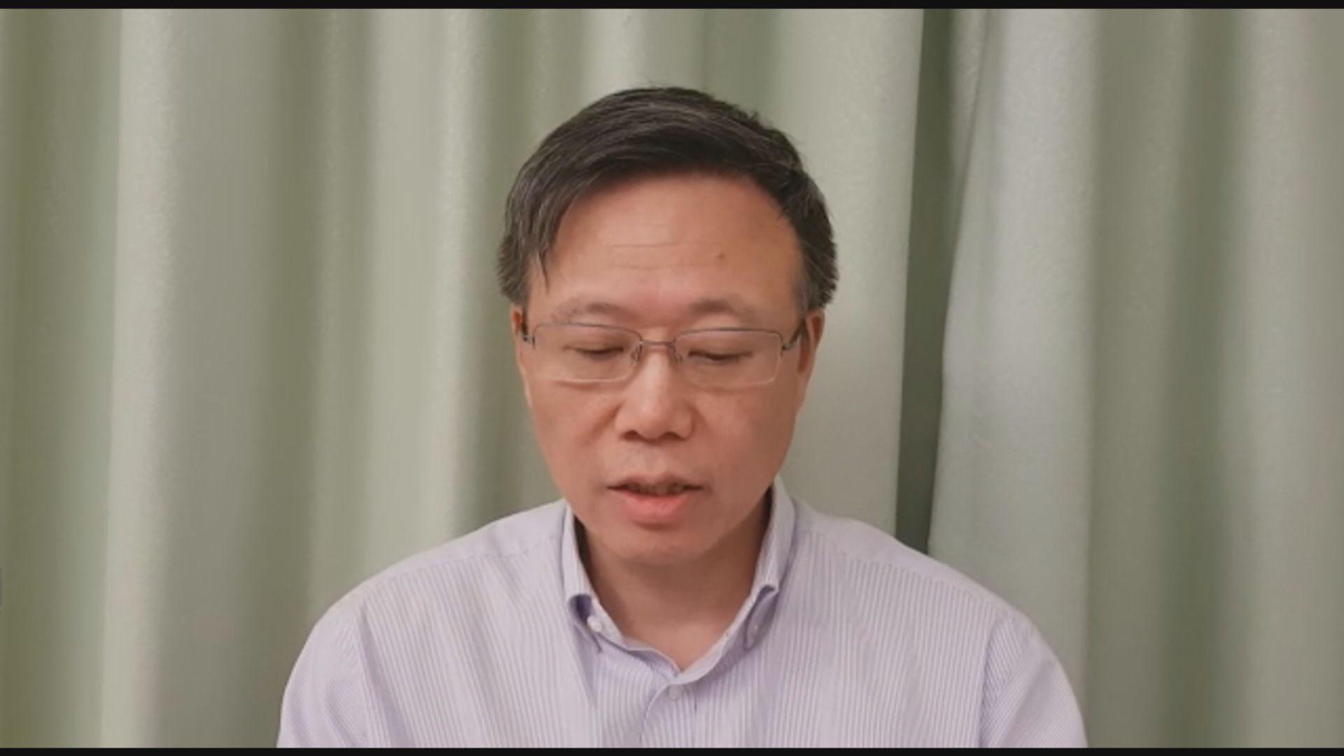 滕錦光:若示威者和平地離開校園會親身陪伴到警署