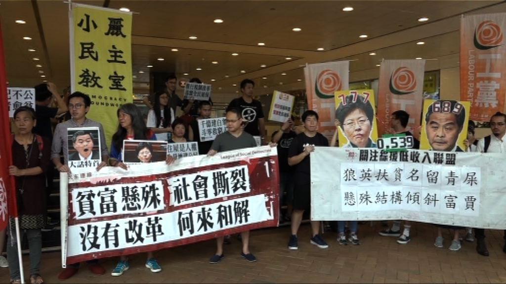 團體遊行抗議扶貧措施失策